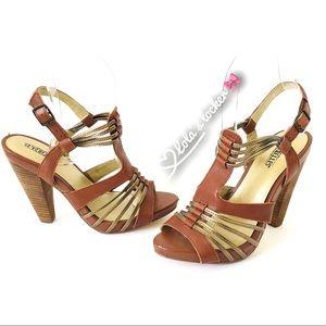 Seychelles Women's T-Strap Sandal Heels Shoes